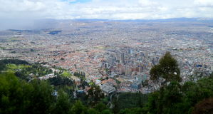 Взгляд Боготы от верхней части Стоковые Изображения RF