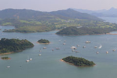 Взгляд бочки Tai kung Гонконга sai Стоковое Изображение RF
