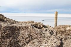 Взгляд боливийских квартир соли Стоковая Фотография RF