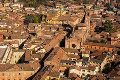 Взгляд болонья от верхней части, Италии Стоковая Фотография RF