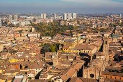 Взгляд болонья сверху, Италия Стоковые Фотографии RF