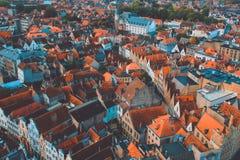 Взгляд Брюгге высокий Стоковые Изображения RF
