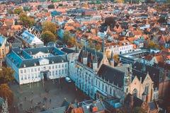 Взгляд Брюгге высокий Стоковое Фото