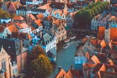 Взгляд Брюгге высокий Стоковая Фотография