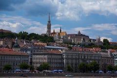 Взгляд Будапешта на Дунае Стоковое Изображение