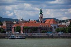 Взгляд Будапешта на Дунае Стоковая Фотография
