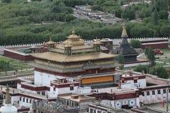 Взгляд буддийского монастыря Samye Стоковые Изображения RF