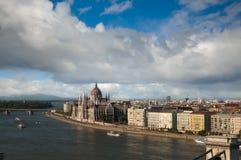 взгляд Венгрии холма gellert budapest Стоковая Фотография RF