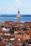 Взгляд Венеции от колокольни Сан Marco, Италии Стоковые Изображения RF