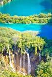 Взгляд вертикали национального парка озер Plitvice Стоковые Фото