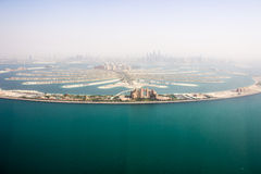 Взгляд вертолета Jumeirah ладони Стоковое Фото