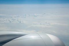 Взгляд верхних границ облаков на 43000 футах Стоковая Фотография RF