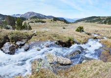 Взгляд весны долины Madriu-Perafita-Claror стоковые изображения