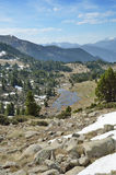 Взгляд весны долины Madriu-Perafita-Claror стоковое изображение