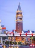 Взгляд вечера венецианской гостиницы Лас-Вегас - ЛАС-ВЕГАС - НЕВАДЫ - 23-ье апреля 2017 Стоковые Фото