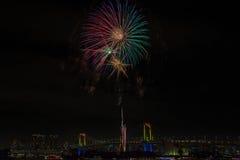 Взгляд вечера горизонта токио Стоковые Фотографии RF