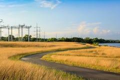 Путь замотки вокруг сухой травы Стоковые Фотографии RF