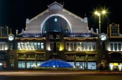 Взгляд вечера рынка Besarabsky Стоковая Фотография
