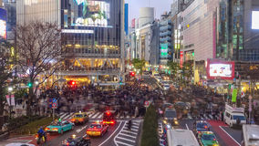 Взгляд взгляд сверху скрещивания Shibuya в Shibuya стоковое изображение