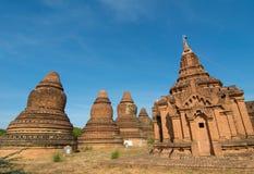 Взгляд висков Bagan, Мьянма Стоковое Изображение