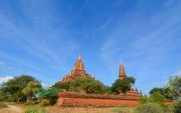 Взгляд висков Bagan, Мьянма Стоковое Изображение RF