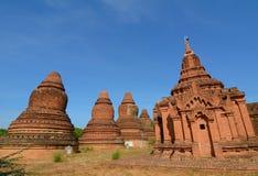 Взгляд висков Bagan, Мьянма Стоковое Фото