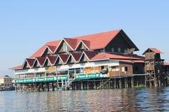 Взгляд вида на озеро Inle в Мьянме Стоковая Фотография