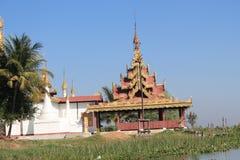 Взгляд вида на озеро Inle в Мьянме Стоковое Изображение