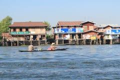 Взгляд вида на озеро Inle в Мьянме Стоковое Фото