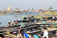 Взгляд вида на озеро Inle в Мьянме Стоковые Фотографии RF