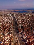 Взгляд воздуха на шоссе Стоковое Изображение RF