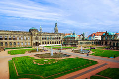 Взгляд дворца Дрездена Германии Zwinger Стоковое Изображение RF