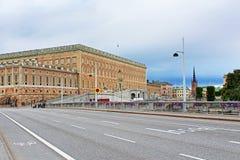 Взгляд дворца Стокгольма королевского, Швеции Стоковое Изображение RF