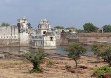 Взгляд дворца Padmini, Chittaurgarh, Раджастхан Стоковое фото RF