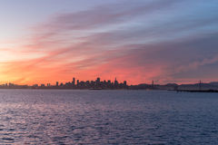 Взгляд восточного горизонта залива Стоковые Фотографии RF