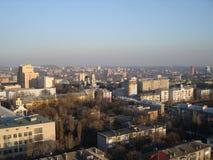 Взгляд восточного Донецка от высоты Стоковые Изображения RF