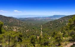 Взгляд восточный от Сьерры Espun Стоковое фото RF