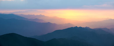 взгляд восхода солнца skrzyczne Польши 1257 высокий гор горы метров Стоковая Фотография RF