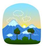 взгляд восхода солнца skrzyczne Польши 1257 высокий гор горы метров Стоковые Фотографии RF