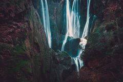Взгляд водопада Ouzoud в Марокко Стоковые Фотографии RF