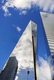 Взгляд всемирного торгового центра в более низком Манхаттане Стоковая Фотография