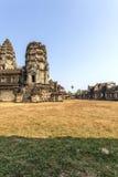 Взгляд второй стены, Angkor Wat, Siem Riep, Камбоджи Стоковое Изображение RF