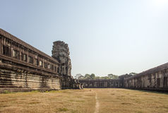 Взгляд второй стены, Angkor Wat, Siem Riep, Камбоджи Стоковые Изображения
