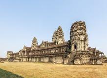 Взгляд второй стены, Angkor Wat, Siem Riep, Камбоджи Стоковое Фото