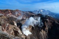 Взгляд вулкана от края кратера Стоковое Изображение RF