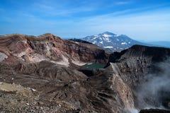 Взгляд вулкана от края кратера Стоковое фото RF