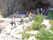 Взгляд входа пещеры льда в окружать Зальцбурга в Австрии Стоковое фото RF