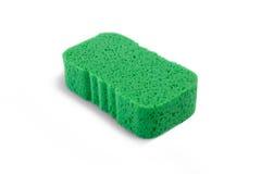 Взгляд высокого угла зеленой губки ванны Стоковое Фото