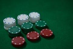 Взгляд высокого угла обломоков покера Стоковое Изображение RF