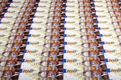 100 предпосылок счетов шекелей Стоковое Изображение RF